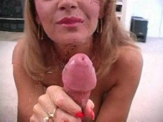 Janet Mason sucks off her husband