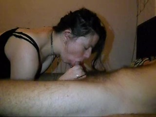 Girlfriend gives amazing blowjob and gets facefucked