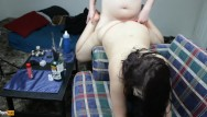 High protien diets while breast feeding - Daisy dabs gets high while bent over chair in red thong and creampied