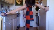 Teen men scarfs - Dancing with his scarf