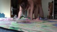 Doogy style fuck Hard doggy style fucking filmed with a standing cam in front cumshot finish