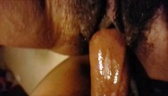 New older wifes pussy always wet Wet black pussy contractions watch her clit jump as she cums on hard dick