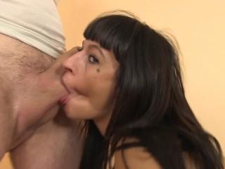 Massage with happy hardcore sex