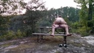 Becky ts escort - Milf becky tailor gets plowed on a picnic table down by the river...