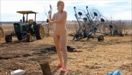 Andrea savage naked Naked chopping wood- andrea sky