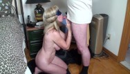 Guts dick Blindfolded milf gives an anonymous gut a birthday blow-job