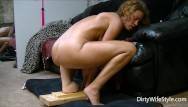 Cock in monster pussy Horny babe rides and fucks a brutal monster dildo to make her pussy happy