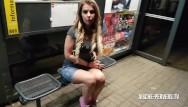 Pervers bdsm Erwischt beim public blowjob - sex - facial an der bushaltestelle