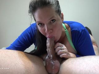 Bull Sized Oral Creampie – Loving MILF Handsfree Sucking – 4K