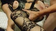 Fat cum slave - Mistress lets slave fuck her hard and cum inside her