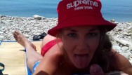 Public slut tgp Public blowjob outdoor on a nudist beach. russian slut nudist girl. supreme