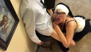 Nuns milf - Naughty nun sucks the devil out of sinner church boy