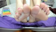 Dogs lick your feet My soles close up in your face. lick em