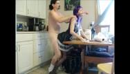 Naughty maid slut Fucking the naughty maid in the kitchen