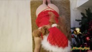 Sexy christmas cartoons Hoe hoe hoe...sexy santa girl enjoys the real christmas spirit
