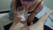 Sycology eat my cum My sexy cum eating girlfriend, cumplay, cum bubbles cum gargling sperm