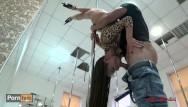 Beautiful brunette fucking Beautiful teen hot pole dancing and anal to throat fucking. mia bandini