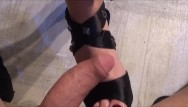 Girls who love blowjobs Girl loves to give footjob with cum on soles