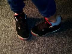 Sneakers Have Fun And Jizm Jordan Retro Iv