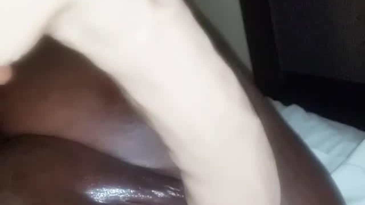 White Milf Riding Dildo