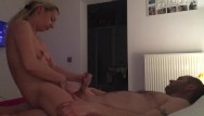 Wifes pussy while asleep - Wife jerking me off while playing with pussy, cowgirl ride with moaning