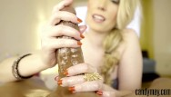 Red nails handjob - Candy may - red nails jerking off bfs bbc