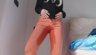 Free pissing jeans pics - Pee in my orange jeans