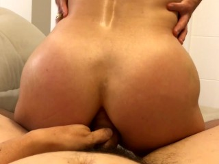 Lets try Anal reverse cowgirl… she screams – POV