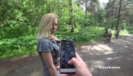3d sex citys - I play with my wife in the city park of lovense sex, squirt in public