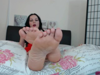 Ruined Orgasm For Meaty Wrinkled Soles Foot Fetish Femdom