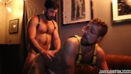 Gay club in 77058 - Jay austin and michael tempesta flip fuck raw in gear in back of club