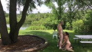 Outdoor nudist pictures Nudist couple exposed - missy gives george a blowjob outdoors