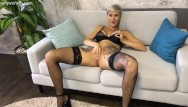 Vintage inks Horny inked milf tanya virago masturbating and squirting with orgasm