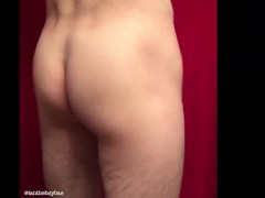Sexy Youngster Milky Man Bouncy Culo Ass Jiggle Twerking