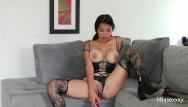 Dildos n ottawa - Hot colombian mila in sexy lingerie/stockings playing with her pussy n toys