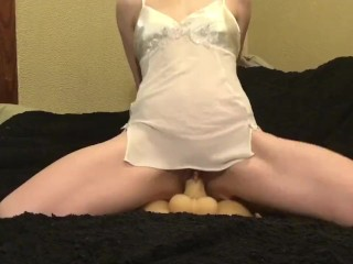 Fox cumming on her fuck doll