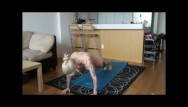 Granny getting naked - Kleio valentien gets a workout in naked.
