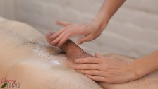 Beautiful handjob at the massage parlor