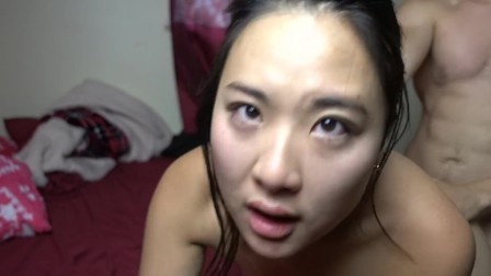 Asian Girlfriend CUM dripping out of her pussy after hotpot @SukiSukiGirl