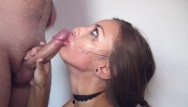 Belladonnas fuck face - Sloppy hard deepthroat, rough mouth fuck with face slapping and big facial