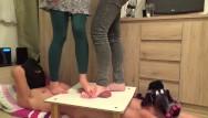 Cruel handjob Cbt trample with two cruel ladies - part 2 they destroy cockbox