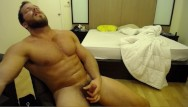Gays cuming on chests Solo muscle hunk cums all over his chest with brock jacobs