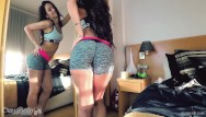 Curled brunette isa be fucked - Crazybella 1hr lingerie n riding reverse cowgirl