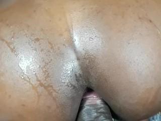 Ebony blue Anal cum shot