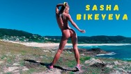 Naked thick girls - Naked russian girl sasha bikeyeva dancing on the shore of the ocean 4k