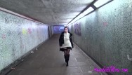 Big boobs subway girl - Subway flash