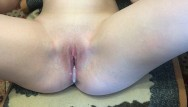 Babes anal close My roommate fucks me and cum inside close up creampie