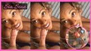 Ebony riding interracial Sucking, riding, and getting fucked siabigsexy