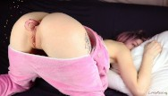 A girl in her ass - Sweet girl playing hard with her ass - amateur anal littlereislin