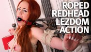 Bound and fucked anally Natural teen redhead first time bound and fucked
